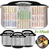 Electric Pressure Cooker Cook Times Quick Reference Guide Compatible with Instant Pot- Meat& Vegetable& Rice, Cooking Times for 100 Common Prep Functions. Accessories Magnetic Cheat Sheet