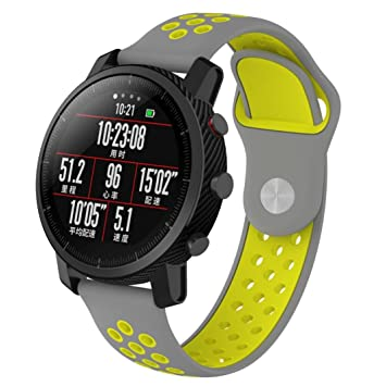Correa de repuesto de Y56 para reloj inteligente Xiaomi Huami Amazfit, de silicona, con ventilación y ligera (no para Huami Amazfit Bip), F: Amazon.es: ...
