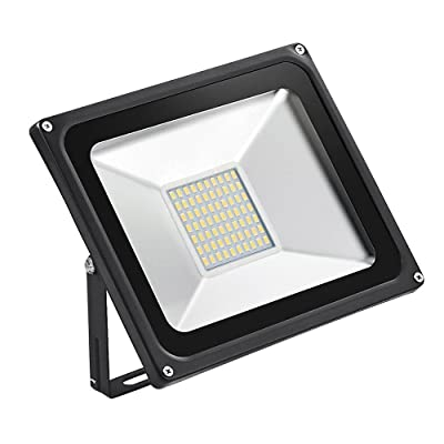 CSHITO 50W LED Flood Lights Outdoor, Waterproof IP65, 4000LM Warm White (2800K-3000K), Wall Washer Light, Super Bright Security Lights, for Garden, Yard, Stadium, Factory, Warehouse, Square, Billboard