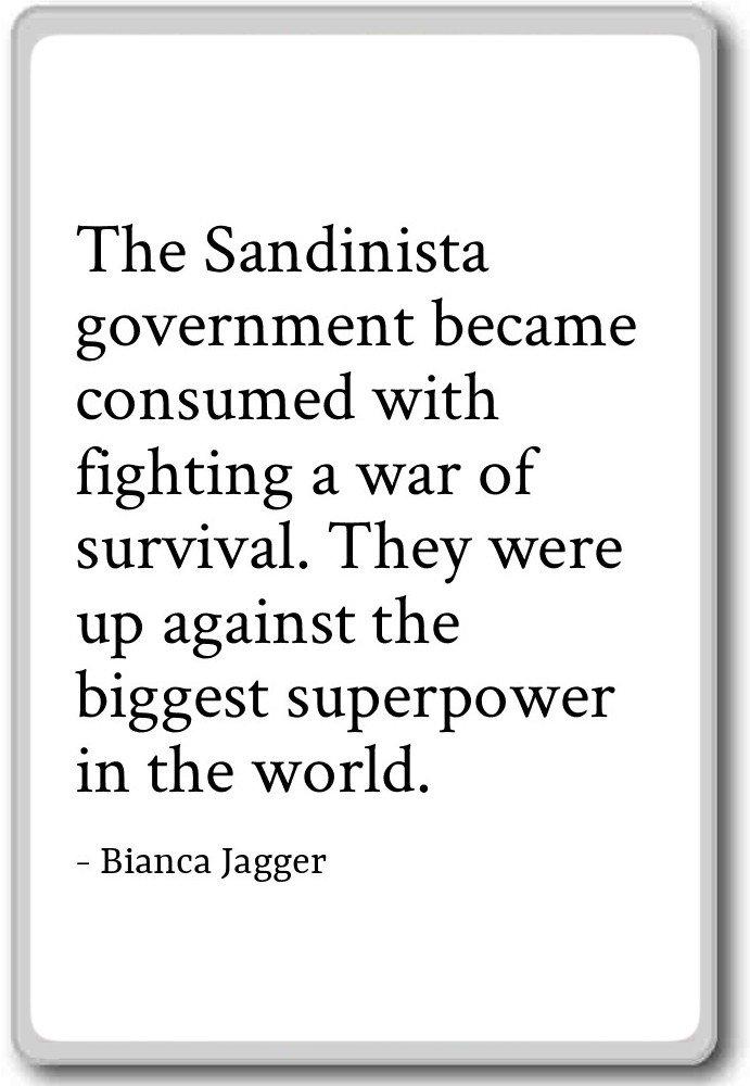 El gobierno sandinista se consume Wit... - Bianca Jagger citas ...
