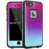 Aretty - Deep Purple Blue Metallic Glitter Sparkle Skin Decal for the iPhone 6/6S Lifeproof FRE (Case not included) (Lavender/Blue Fade)