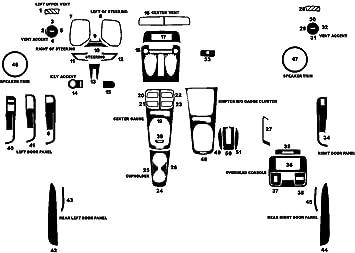 Aluminum Brushed Black Rvinyl Rdash Dash Kit Decal Trim for Ford Explorer 2011-2015
