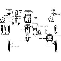 Rdash Dash Kit Decal Trim for Chevrolet Camaro 2010-2011 - Carbon Fiber 4D (Red)