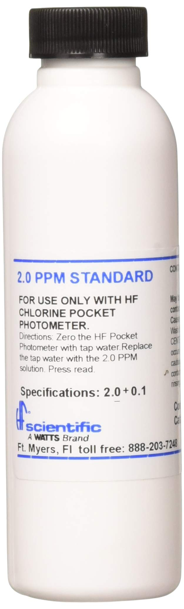 HF Scientific 10451A 2.0PPM Reference Standard Solution for Chlorine Pocket Photometer, 118 mL by HF Scientific