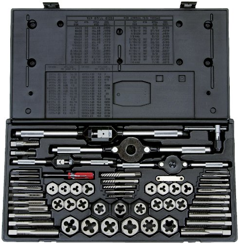Vermont American 21739 Tap and Die Set, Red, 58-Piece