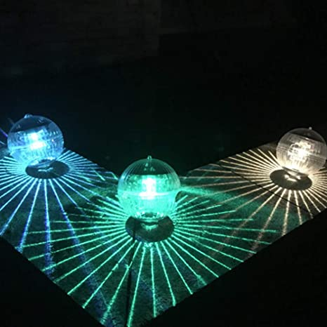 Luz de colores Luz de flotador de agua de Mobestech Bola m/ágica Decoraci/ón de luz de estanque solar para piscina de jard/ín