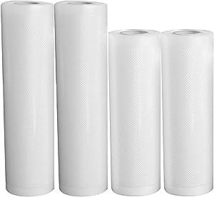 Mintata 4 Rolls Vacuum Food Seal Bag Transparent Safe Non-Toxic Anti-Aging No Leakage Cuttable Sealer Food Storage Bag
