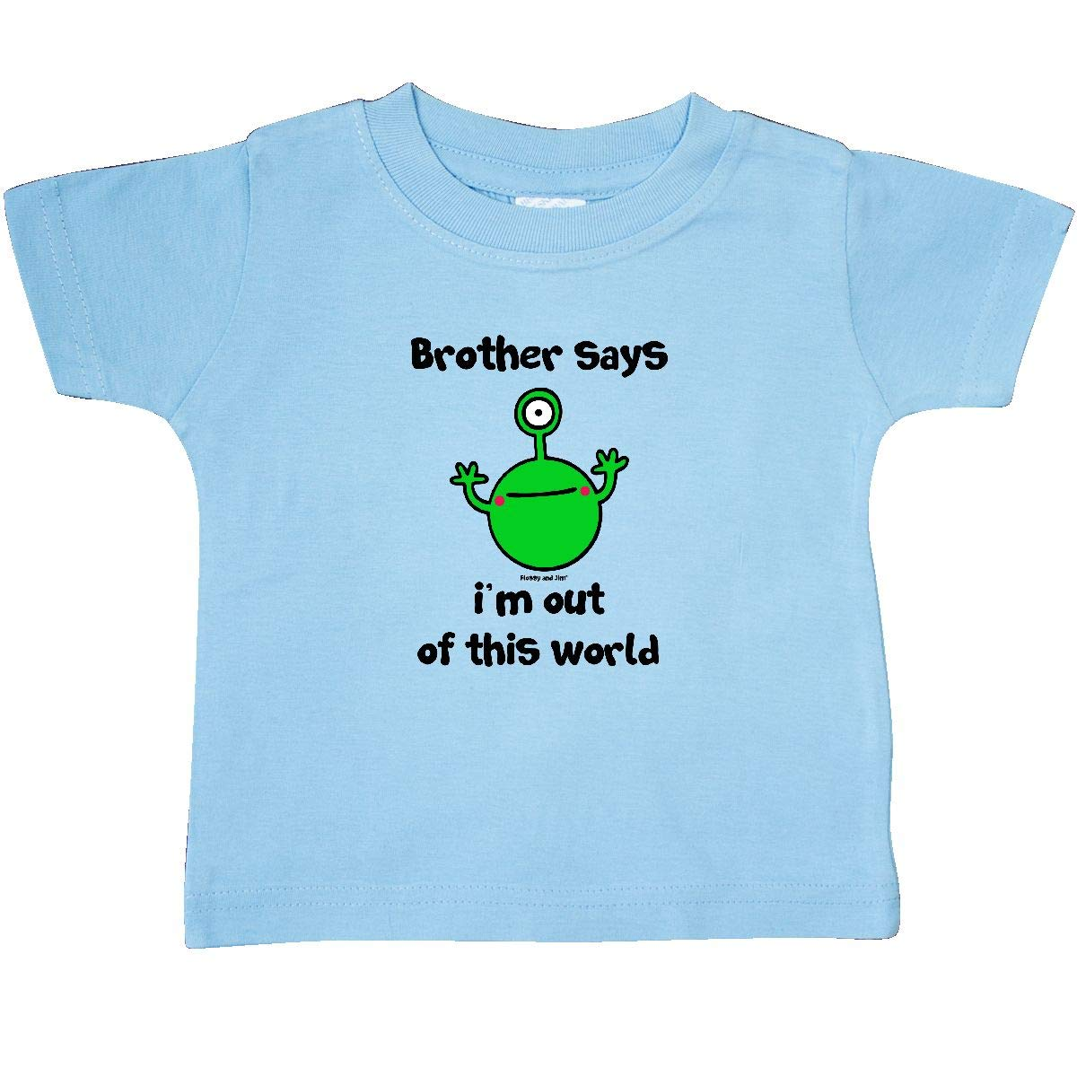 inktastic Brother Out of This World Baby T-Shirt Flossy and Jim