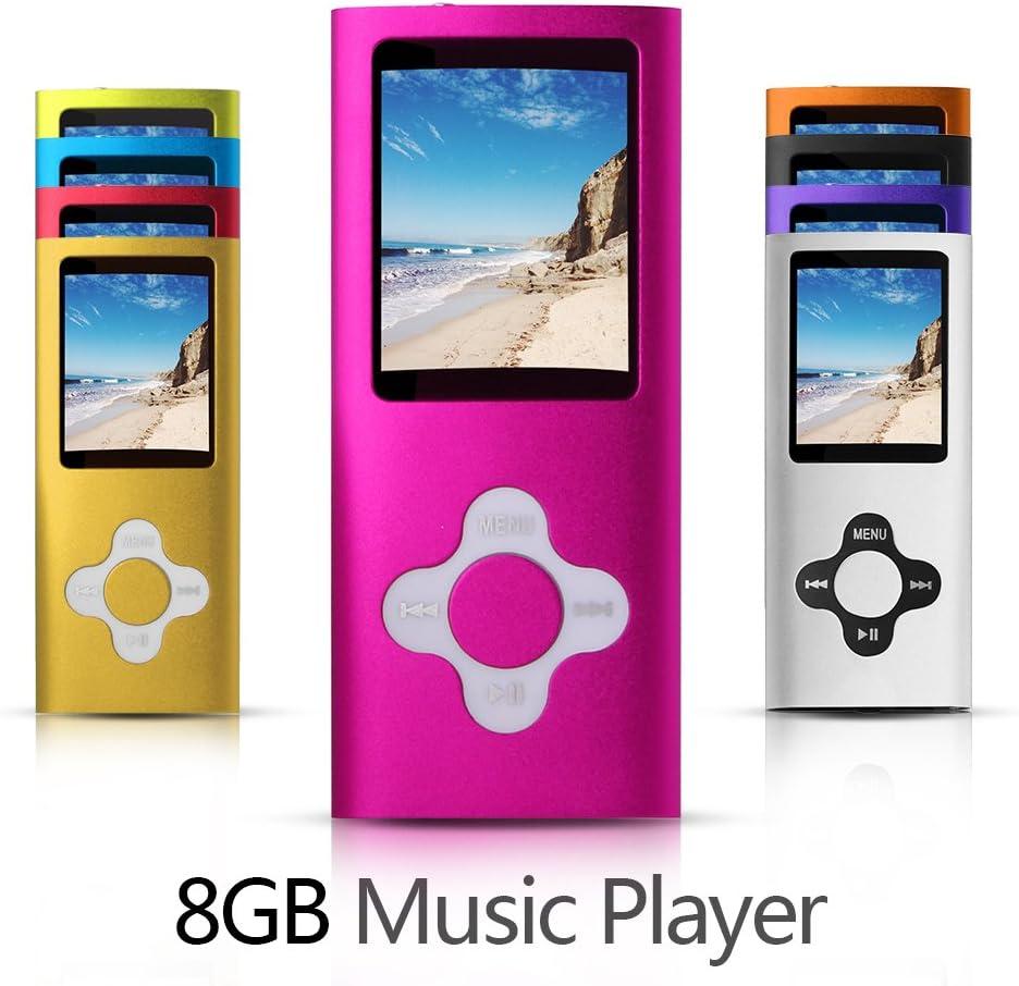 G.G.Martinsen 8GB Versatile MP3/MP4 Player with Photo Viewer, Mini USB Port Slim 1.78 LCD, Digital MP3 Player, MP4 Player, Video Player, Music Player, Media Player-Pink: Home Audio & Theater