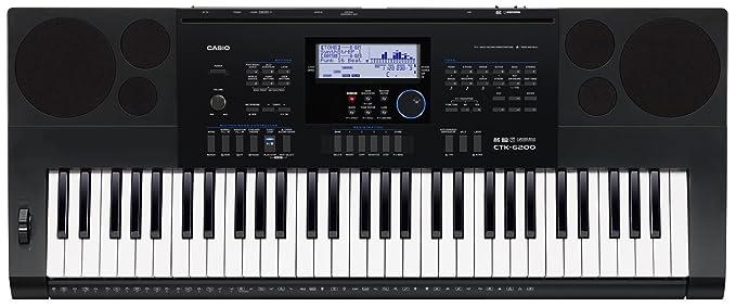 Casio CTK-6200 piano digital - Teclado electrónico (94,8 cm, 38,4 cm, 12,2 cm, LCD) Negro: Amazon.es: Instrumentos musicales