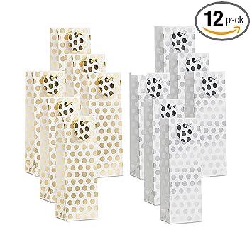 Amazon.com: UNIQOOO paquete de 12 bolsas de regalo de vino ...
