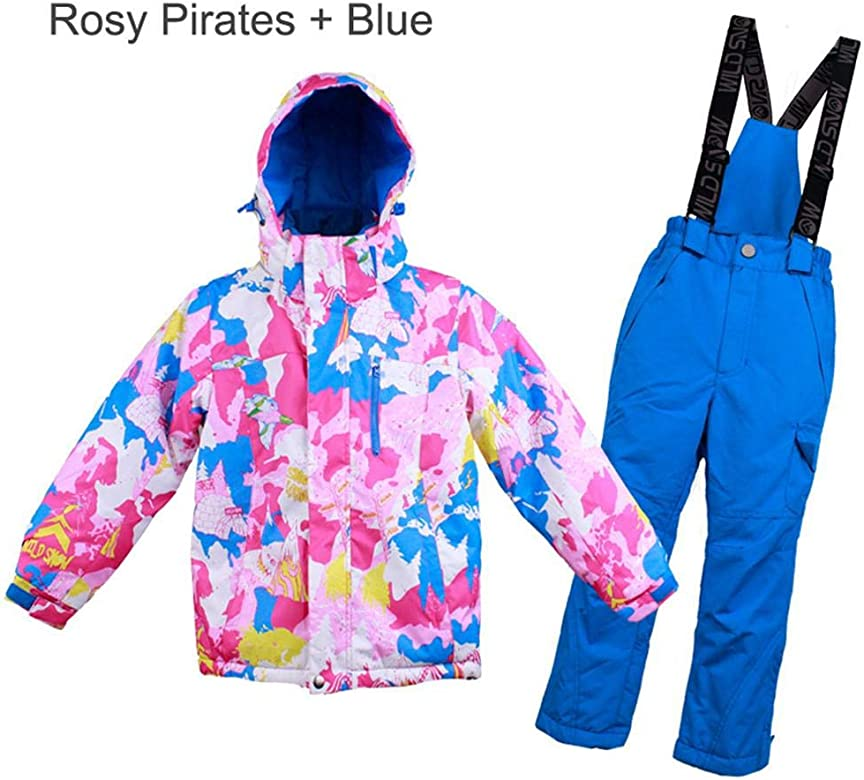 Combinaison de Ski Enfant Veste Pantalon,