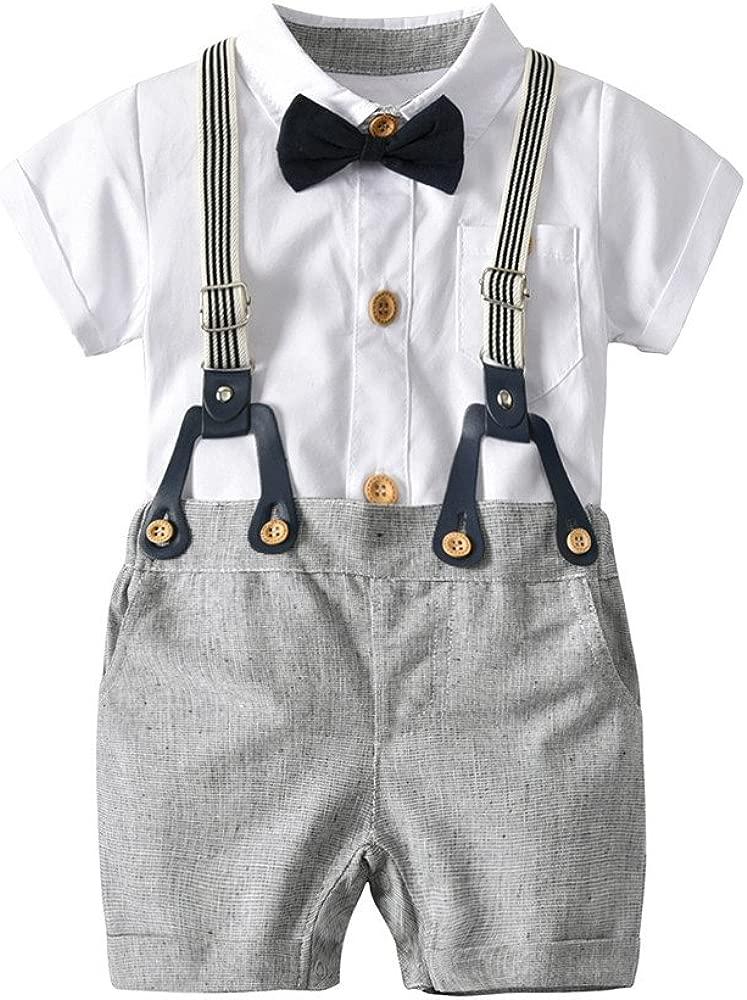 Cinnamou Dos Piezas Ropa Bebés Juego Traje de Camisas y ...