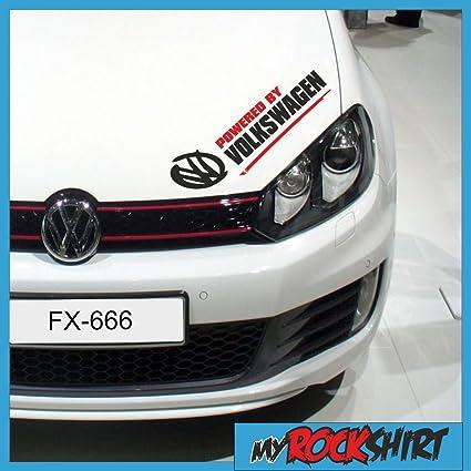 Pegatinas set 1 x Powered By Volkswagen 30 cm VW Pegatinas + Bonus ...