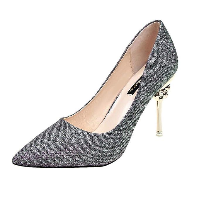 70a8a6f239 Autunno femminile elegante scarpe col tacco alto moda partito ...