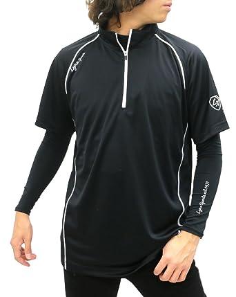 e118d3a50fc022 Amazon | [リンクス スポーツ] ランニングウェア コンプレッション インナー Tシャツ ハーフジップ スポーツシャツ メンズ | アクティブ シャツ・Tシャツ 通販