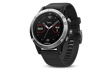 e8b63451a8cf Garmin Fenix 5 Silver - Reloj Multisport GPS con Navegación y frecuencia  Cardíaca