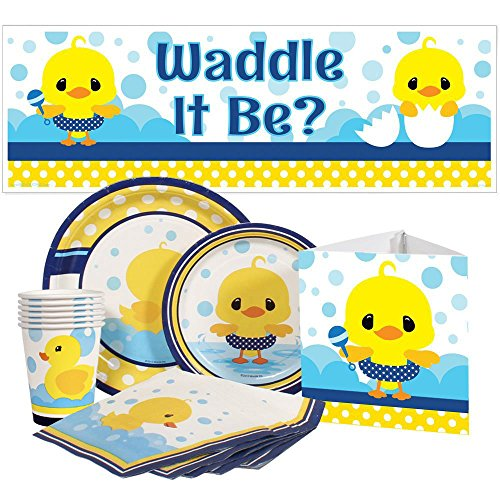 Rubber Ducky Baby Shower Party Package for 16 - Ducky Dessert Plates