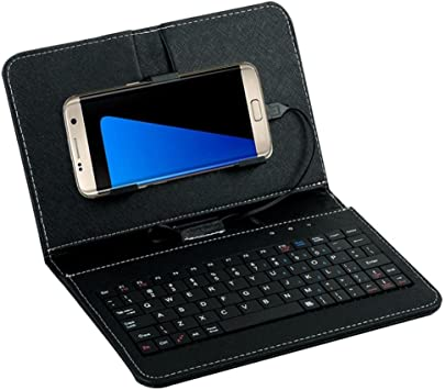aobiny Wired Teclado Flip Funda teléfono Celular para Samsung S7/s7edge Funda para teléfono Android, Negro: Amazon.es: Deportes y aire libre