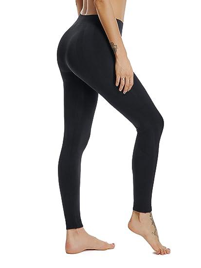 17aa3074b04dec HOFISH Seamless Sports Pants for Women Capris Exercise Tights Black Medium