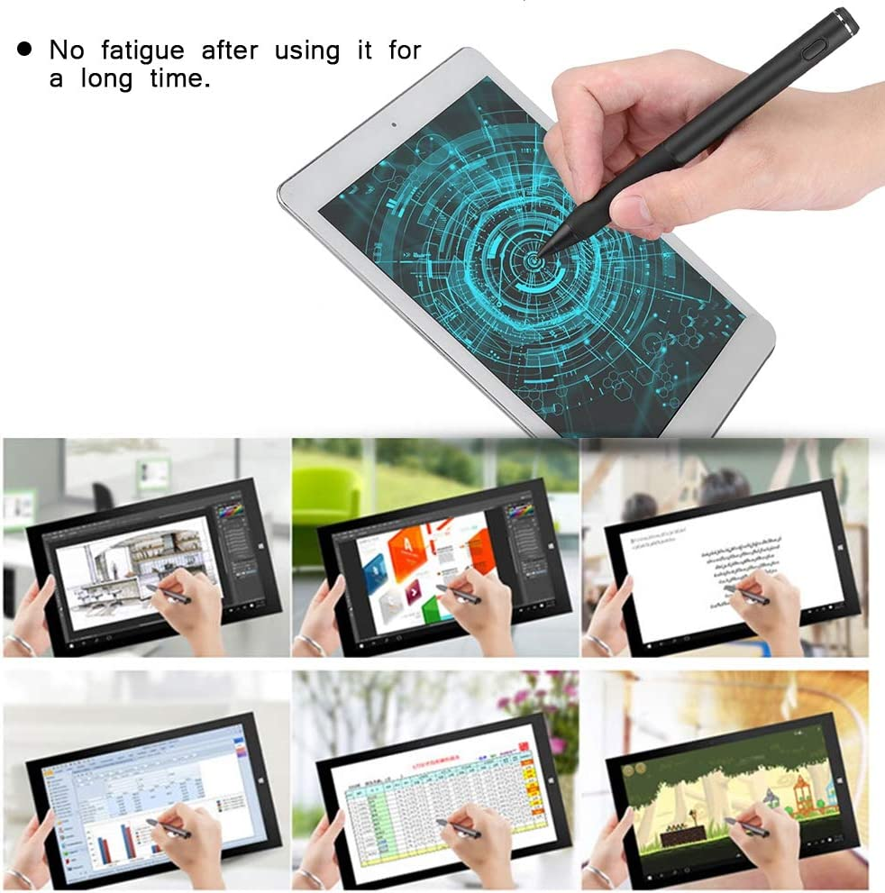 Notes,High Precision Stylus Pen,No Fatigue,USB Charge Writing Diyeeni 130mm Capacitive Pen with Data Cable,1.45mm Metal tip Touch Pen for Painting