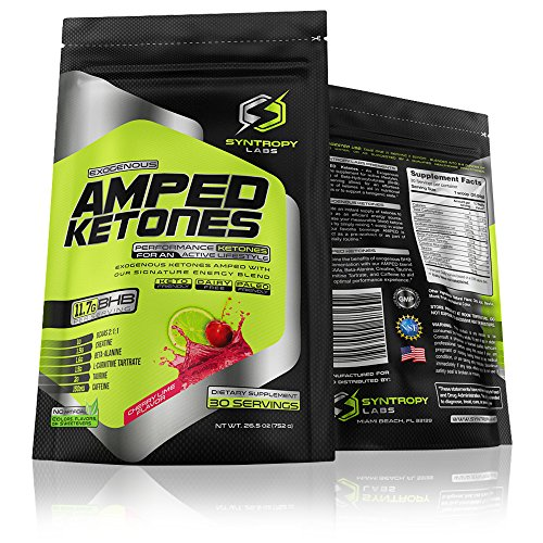 Price comparison product image AMPED Ketones: BHB + Signature Performance Blend | Cherry Lime Flavor - 30 Servings (Exogenous Ketones, Beta-Hydroxybutyrate)