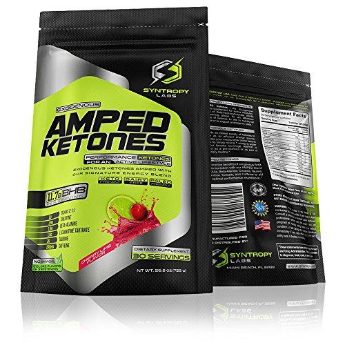 Price comparison product image AMPED Ketones: BHB + Signature Performance Blend / Cherry Lime Flavor - 30 Servings (Exogenous Ketones