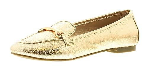 Wynsors - Mocasines de Material Sintético para niña dorado dorado: Amazon.es: Zapatos y complementos