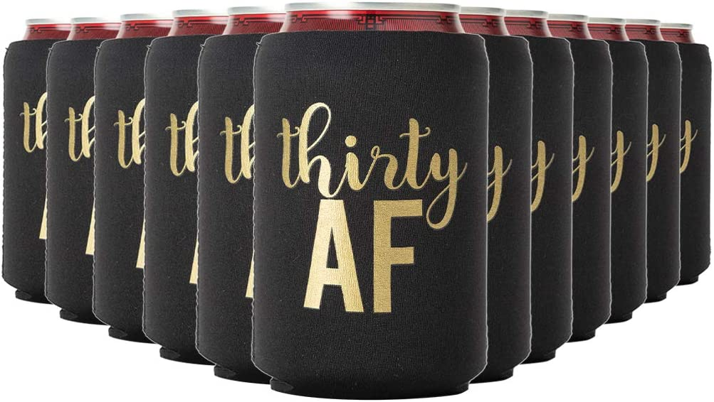 C447 Birthday Dirty Thirty Can Coolers 30th birthday party favors Party 25 Colors