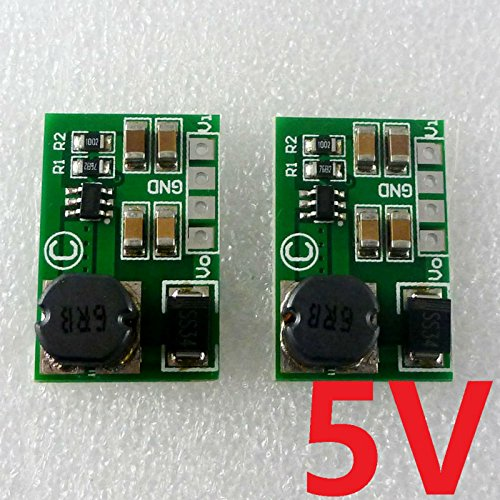 Avr Boost (RUNNINGPART 2pcs high-efficiency 8W 2-5V to 5V DC DC Boost Converter for Arduino UNO MEGA2560 DUE AVR STM32 Breadboard MCU Development board)