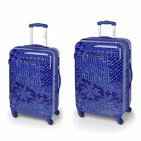 Gabol Trend Maleta, 76 cm, 151 litros, Pack de 2, Azul