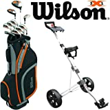 WILSON X31 MENS COMPLETE GOLF PACKAGE SET +DELUXE GOLF CART BAG +GOLF TROLLEY