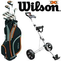 WILSON X31 MENS COMPLETE GOLF PACKAGE SET +DELUXE GOLF CART BAG +GOLF TROLLEY
