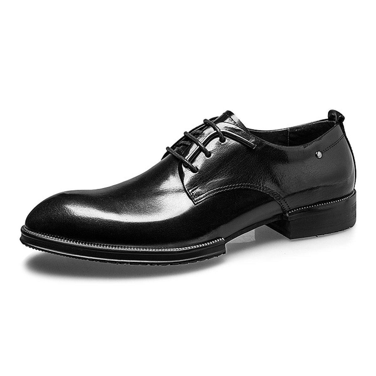 GRRONG Herren Business Schuhe British Wind Hochzeit Schuhe  43|Black
