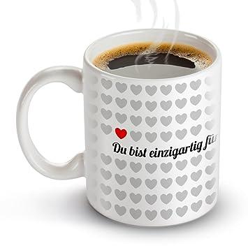 """Tasse /""""Du bist einzigartig für mich!/"""" Valentinstag Liebe Geschenk Verliebt"""