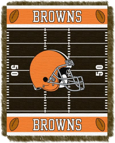 The Northwest Company Officially Licensed NFL Cleveland Browns Field Bear Woven Jacquard Baby Throw Blanket, 36