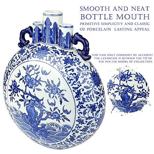 Zebre Blue and White Ceramic Vase, Traditional Chinese Handpainted Porcelain Decorative Jar Vase from Jingdezhen1