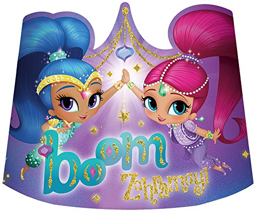 Amscan Glitter Paper Tiaras | Shimmer and Shine Collection | Party Accessory -