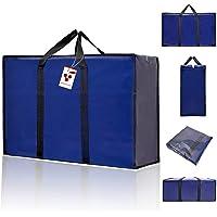 Berri 3 X Large Sacs à Provisions pour la Lessive Zip - Réutilisables / Nouveau (Couleurs Assorties)