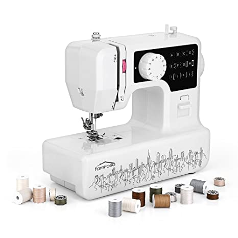 Máquina de Coser, Famirosa Mini Máquina de Coser Manual Eléctrica Maquina de Coser Niña,