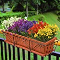 ZiMeng Artificial Fake Flowers, 4 Bundles Outdoor UV Resistant Greenery Shrubs Plants Indoor Outside Hanging Planter Home Garden Decorating …
