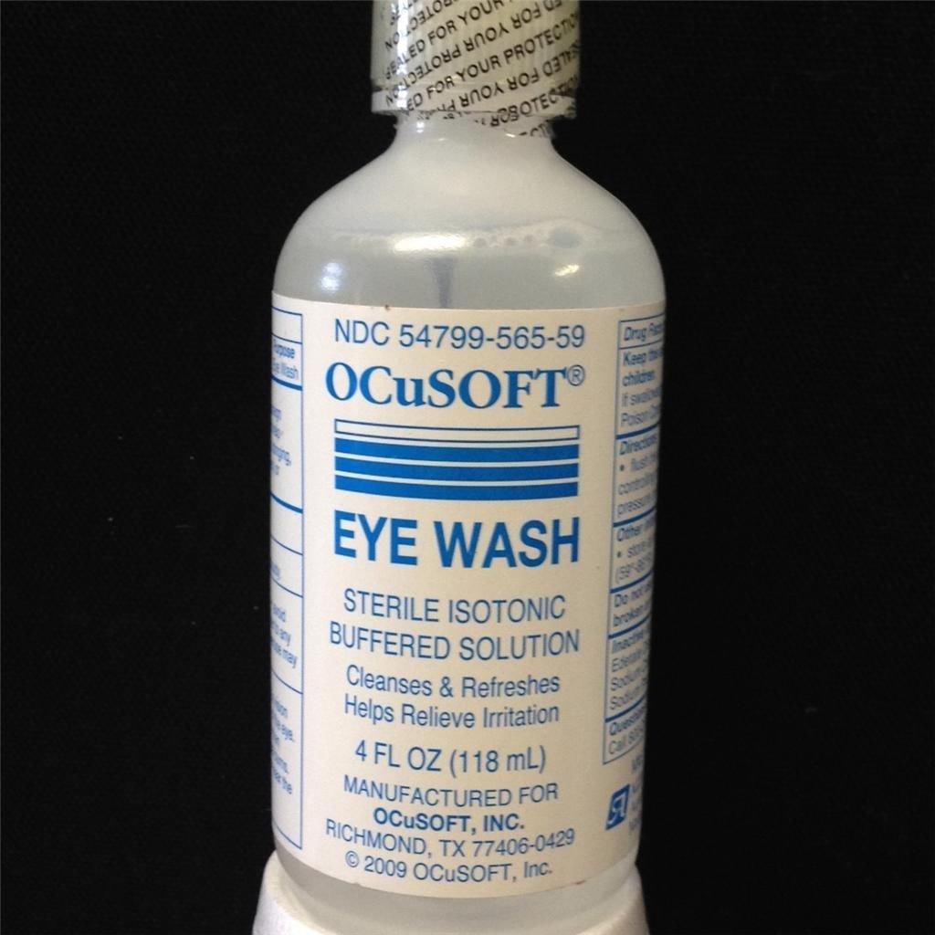 Ocusoft eye wash irrigating solution sterile