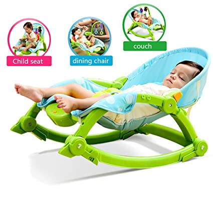 d7d4d49af125 Amazon.com  JLRQY Baby Bouncer Foldable Baby Swing Reclining Chair ...