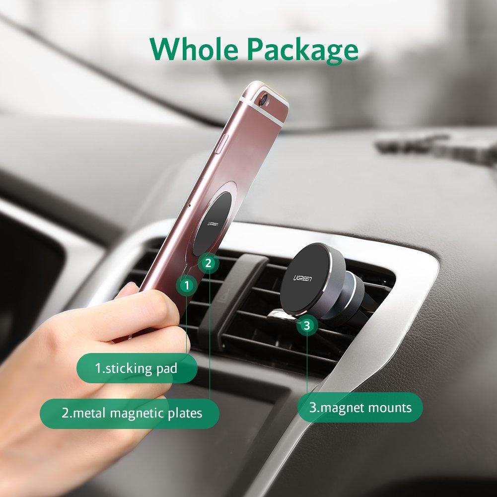UGREEN Auto Halterung KFZ Handyhalter Magnetic Universal Smartphone Halterung 360 Grad Drehbare Klebrige f/ür Handy und Navi Rosagolden