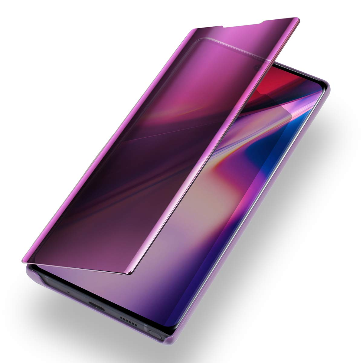 Luxury Flip Case Translucent View with Touch Screen Function AICase Flip Cover for Galaxy Note 10 Plus//10+ 5G Ocean Blue Mirror Screen Electroplate Kickstand Full Body Protective Case for Samsung Galaxy Note 10 Plus//10+ 5G
