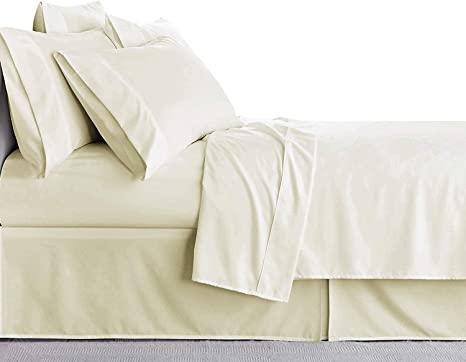 Bed Sheet set 400 TC Cotton All Solid Color King Size 15 Inch Deep Pocket