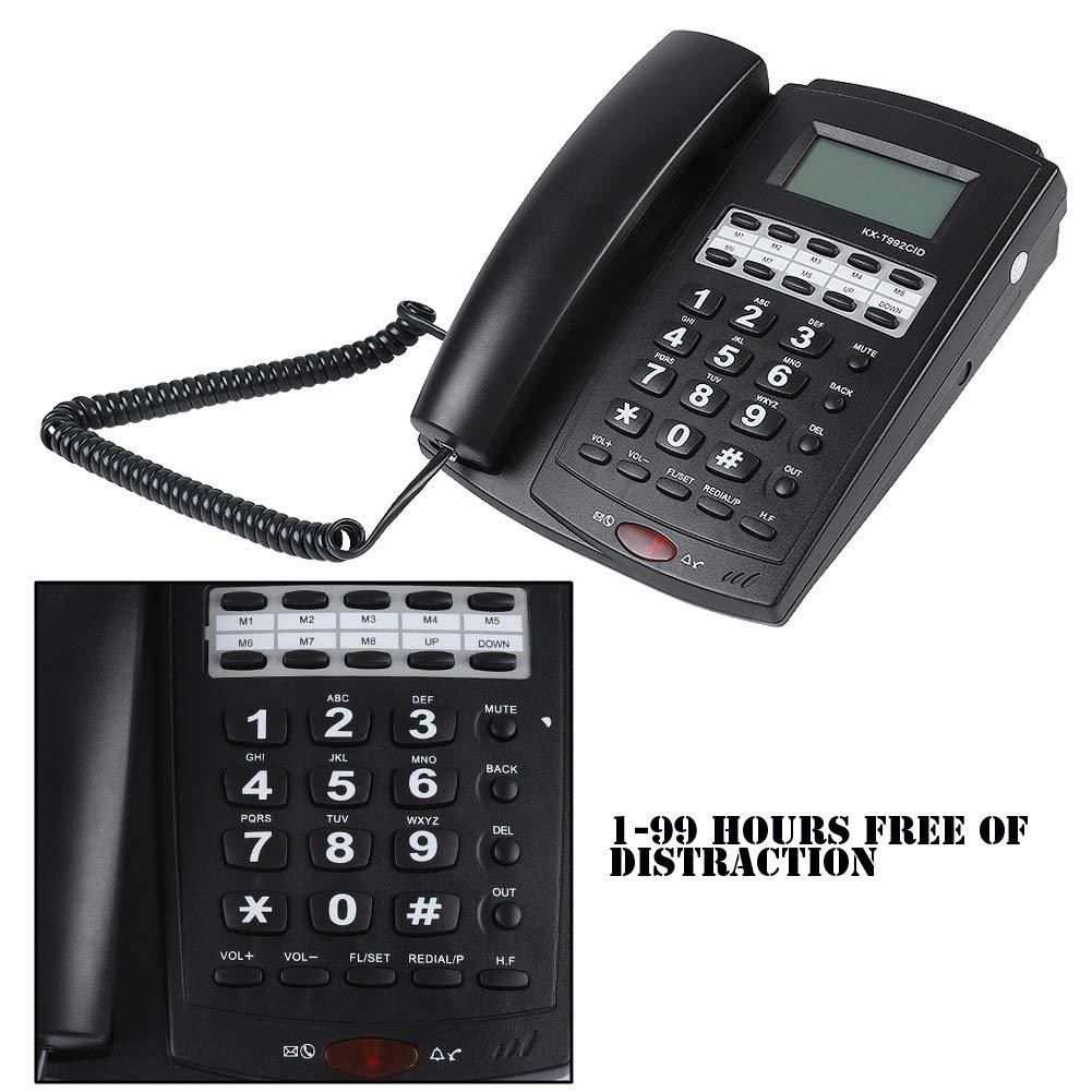 ASHATA Teléfono de Sobremesa,Teléfono Fijo con Cable con Pantalla ...