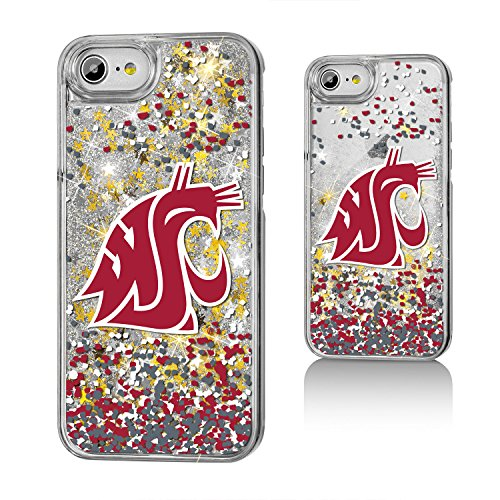 Keyscaper KGLGI7-0WST-FETTI1 Washington State Cougars iPhone 8/7 Glitter Case WSU Confetti ()
