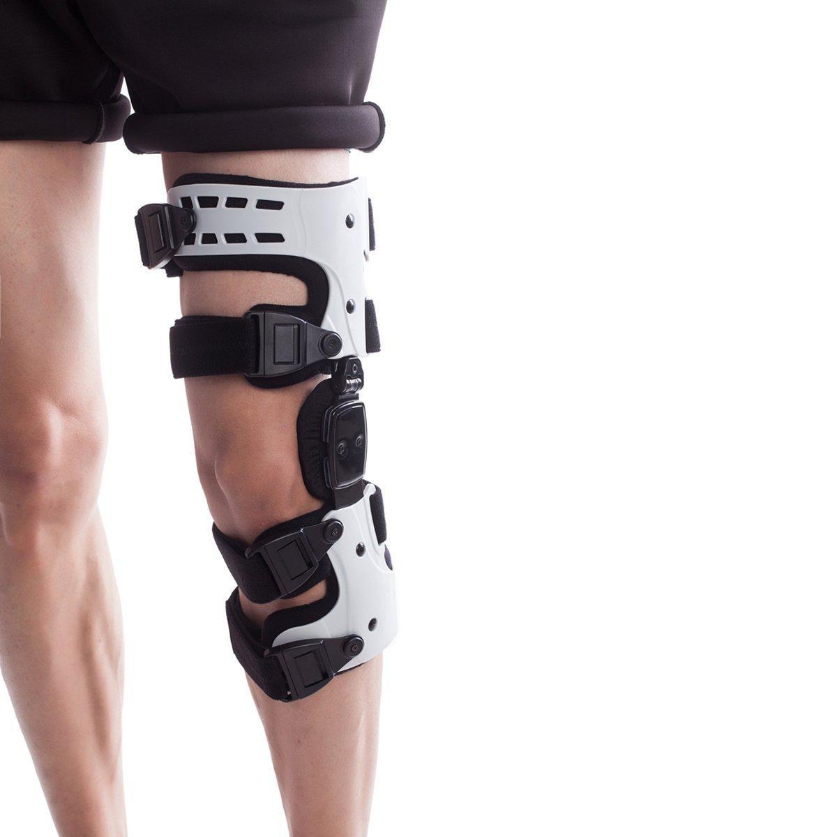 変形性膝関節症用装具 OA 膝関節の痛み 膝痛対策 -外側型 左 白 B07L8F9NY9