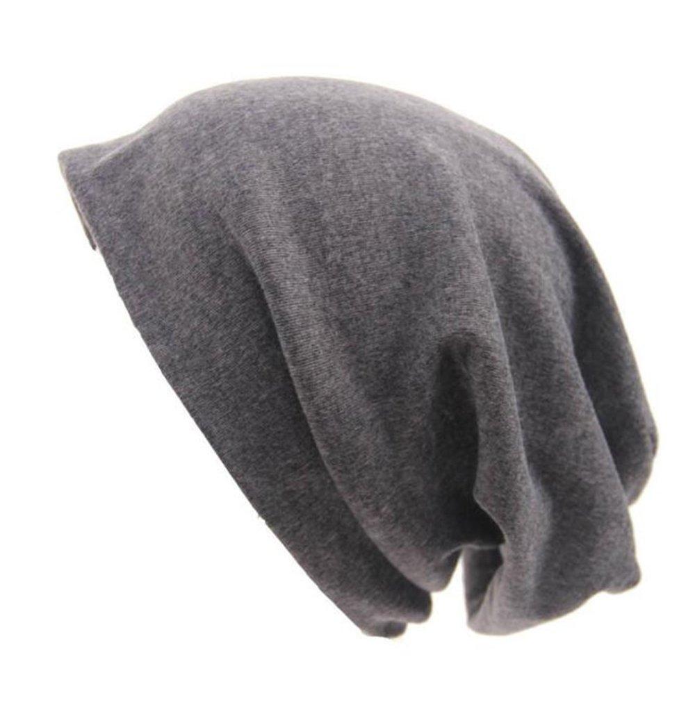 世紀StarスポーツユニセックスレディースメンズバギーシンヒップホップソフトコットンSlouchyストレッチビーニー帽子スカルキャップ B01KWJ5RX8 グレー グレー